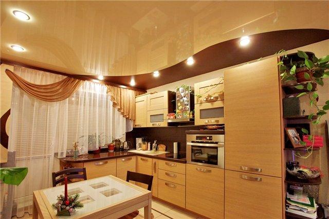 Ремонт потолка на кухни своими руками